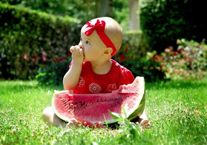 Alimentación del bebe en verano