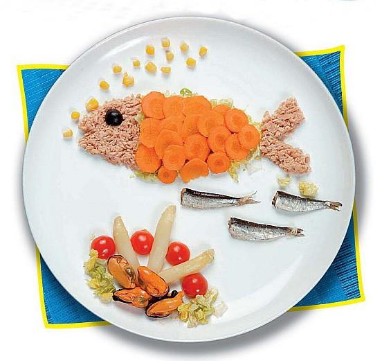 El pescado en los niños