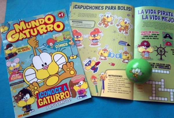 Revista Mundo Gaturro llegó a España, ¡conoce a sus personajes!