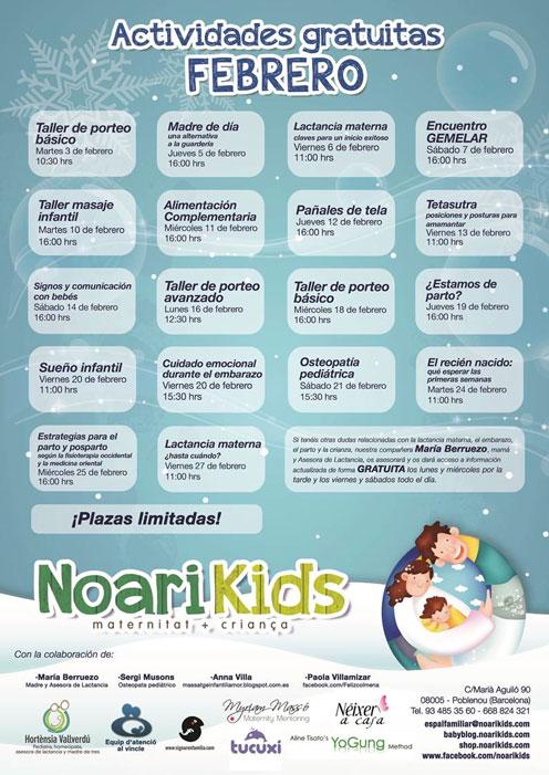 Charlas y talleres GRATUITOS febrero 2015 de Noari Kids